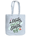 Make Every Day Earth Day EarthAware Organic Spring Tote - pastel blue