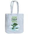 Going Zero Waste EarthAware Organic Spring Tote - pastel blue