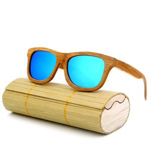 Handcrafted Bamboo Sunglasses With UV Protection