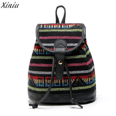 Backpack Women Fashion National Backpack Stripe
