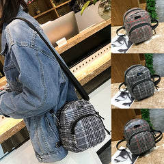 Backpack Women lady Girl Lattice Leather