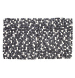 Amala - Handmade Wool Felt Pebble Rug - Grey |