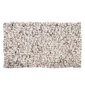 Amala - Handmade Wool Felt Pebble Rug - Brown