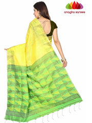 Anagha Sarees Motka silk Handloom Pure Resham by Motka Saree - Yellow ANA_E39