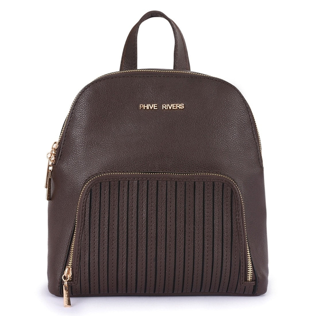 Phive Rivers Women's Leather Brown Backpack