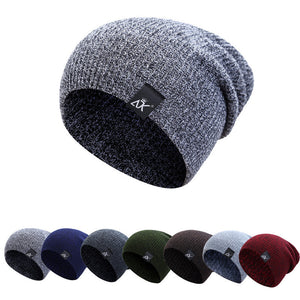 Slouchy Beanie Winter Hats For Men Women Knitted Cap Hip Hop Striped Crochet Hat Casual Skullies Beanies Caps Female Warm Hats