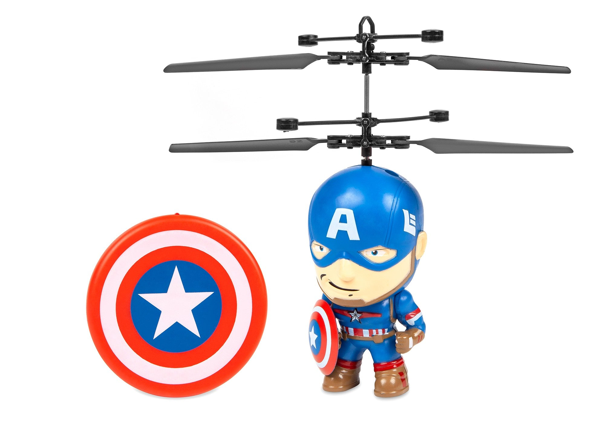 Marvel Licensed Marvel 3.5 Inch Captain America Flying Figure IR Helicopter