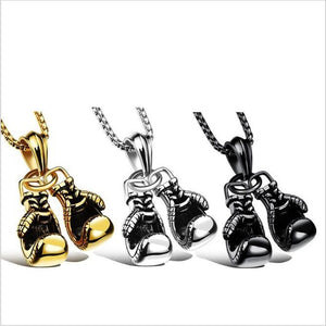 Men's Fashion Two Punch Necklace Box Fighter Necklace Accessories