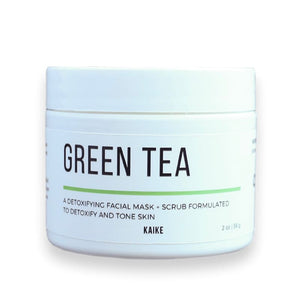 Green Tea Mask + Scrub - Face Mask All-Natural apolo Black and Green Black and GRN black owned beauty brands