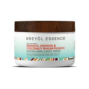 Haitian Hand & Body Creme - Mango Rhum Punch - Body Butter All-Natural apolo Bestseller Black and Green Black and GRN