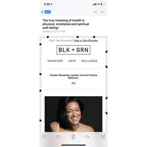Newsletter Feature - Marketing All-Natural Black and Green Black and GRN black owned beauty brands Black Owned Washington DC