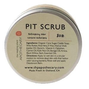 Pit Scrub for Underarms - 8oz - Deodorant All-Natural apolo Black and Green Black and GRN black owned beauty brands