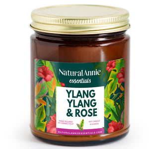 Ylang Ylang & Rose Scented Soy Candle