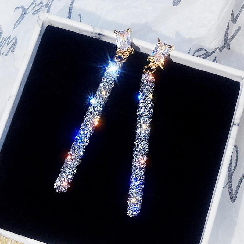Women Large Classic Crystal Earrings - AlphaExpressPro