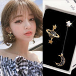 Women/Girl Alloy Star Moon Earrings Fashion - AlphaExpressPro
