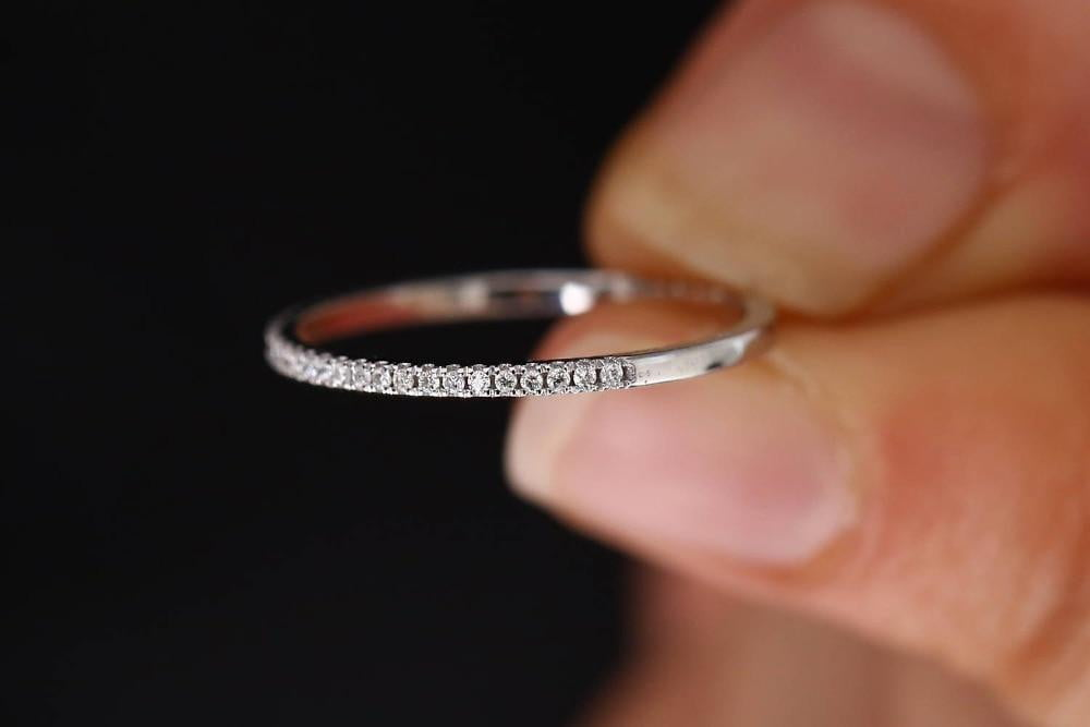 Women Wedding Engagement Silver Ring - AlphaExpressPro