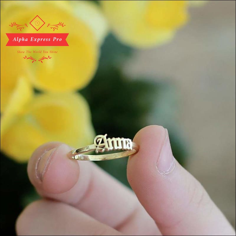 Women Custom Name Finger Ring - AlphaExpressPro