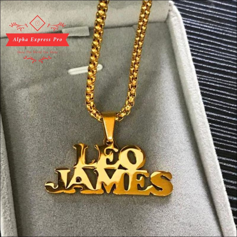Stainless Steel Gold Custom Name Necklace - AlphaExpressPro