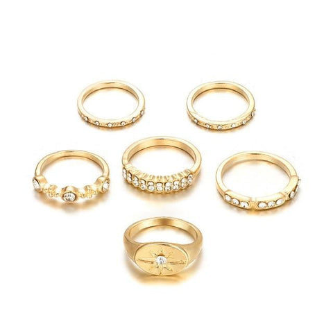 Women/Girl Rhinestone Finger Ring Fashion - AlphaExpressPro