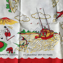 Load image into Gallery viewer, 1950's Deadstock Linen/Cotton Souvenir Table Cloth