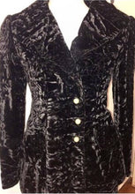 Load image into Gallery viewer, Early Yves St Laurent couture black velvet pant suit. size 4-6
