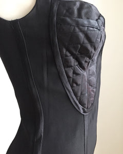 Vintage 1990's Gaultier-esque Sexy Black Body Con Dress.XS