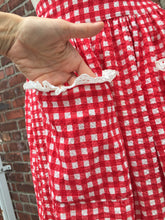 Load image into Gallery viewer, 1940's Seersucker Cotton Gingham Playsuit. S