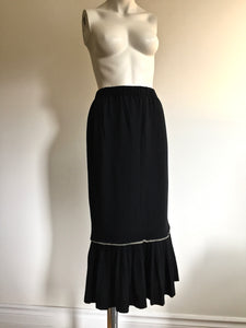 1980's Nicole Matsuda Light Wool Jersey 2 Piece Skirt Set. S/M