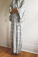 "Load image into Gallery viewer, <img  src=""vintage kimono""  alt=""Antique silk silver grey kimono robe"""