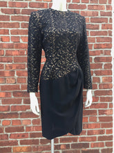 "Load image into Gallery viewer, <img  src=""vintage Balmain dress""  alt=""Vintage 1980's Balmain wool dress"""