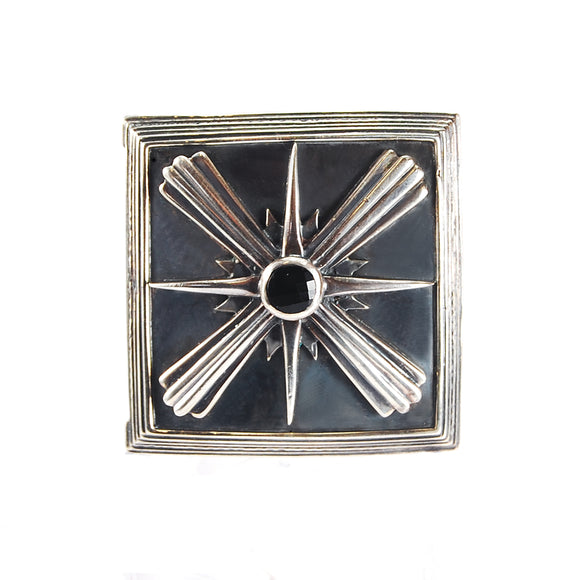 Silver Beltbuckle Morning Star