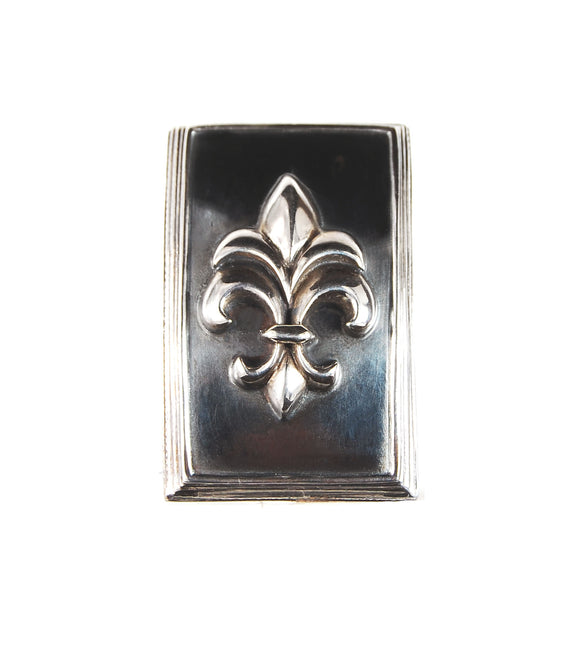 Silver Belt Buckle Rectangular Elfin Frame with LILY