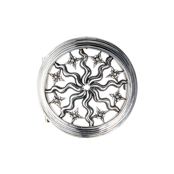 Silver Belt Buckle Elfin SUN and PLANETS