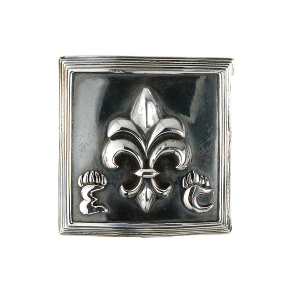 Silver Belt Buckle Caree Elfin Frame with LILY