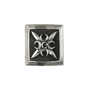 Belt Buckle Care` CrescentCross on Searay Leather