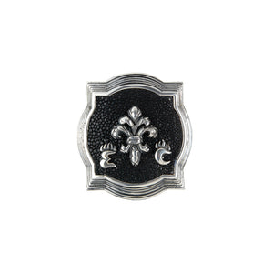 Silver Belt Buckle Caree E C LILY  on Searay Leather