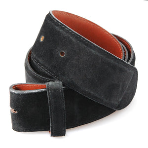 Belt Strap of NUBUK Leather with Buttons 50 mm