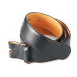 Belt Strap of Saddle Leather with Buttons 35 mm