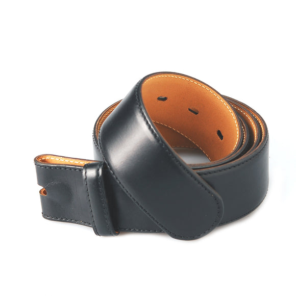 Belt Strap of Saddle Leather with Buttons 50 mm