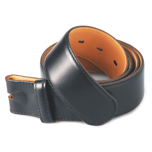 Belt Strap of Saddle Leather with Buttons 40 mm .