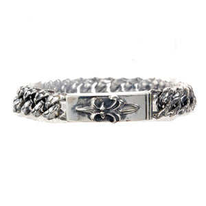 "Silver Bracelet ""Long Lily"" Dragon Scales Chain"