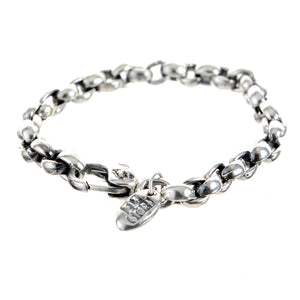 Silver Bracelet PEA CHAIN S with LILY Lock
