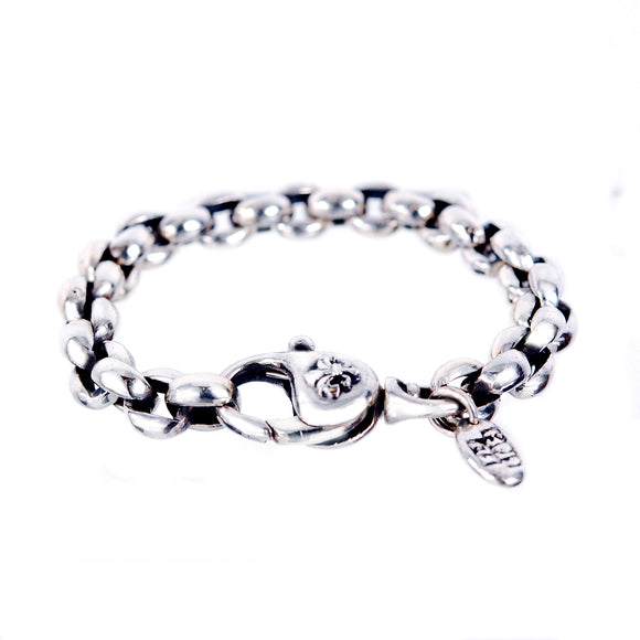 Silver Bracelet PEA CHAIN M with LILY Lock