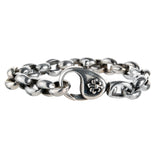 Silver Bracelet PEA CHAIN with LILY Lock