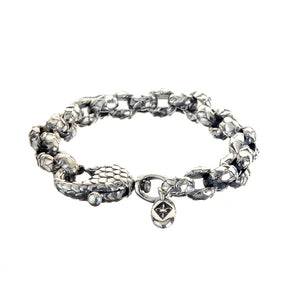"Silver Bracelet Pea chain ""Dragon scales"""