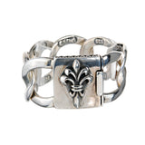 Silver Bracelet LILY Lock and Open CHAIN XXL