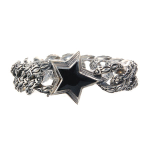 "Silver Bracelet ""Shooting Star""  Garden At Night Chain"