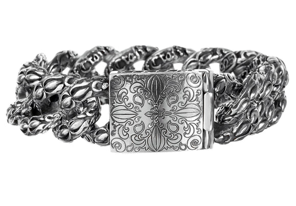 Silver Bracelet GARDEN AT NIGHT