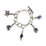Silver BEGGING Bracelet Navette Chain with Lilystick SHOOTING STAR
