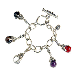 Silver BEGGING Bracelet NAVETTE with Lilystick and DRAGON CLAWS